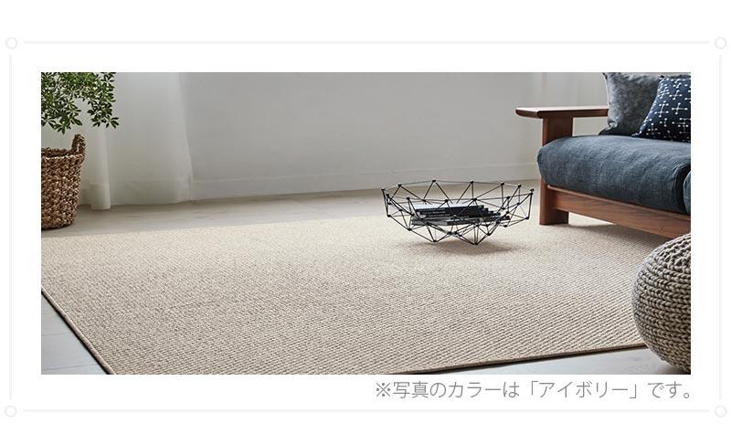 100サイズ ナチュラルモダンな色合いがお洒落なカーペット【アクラ】