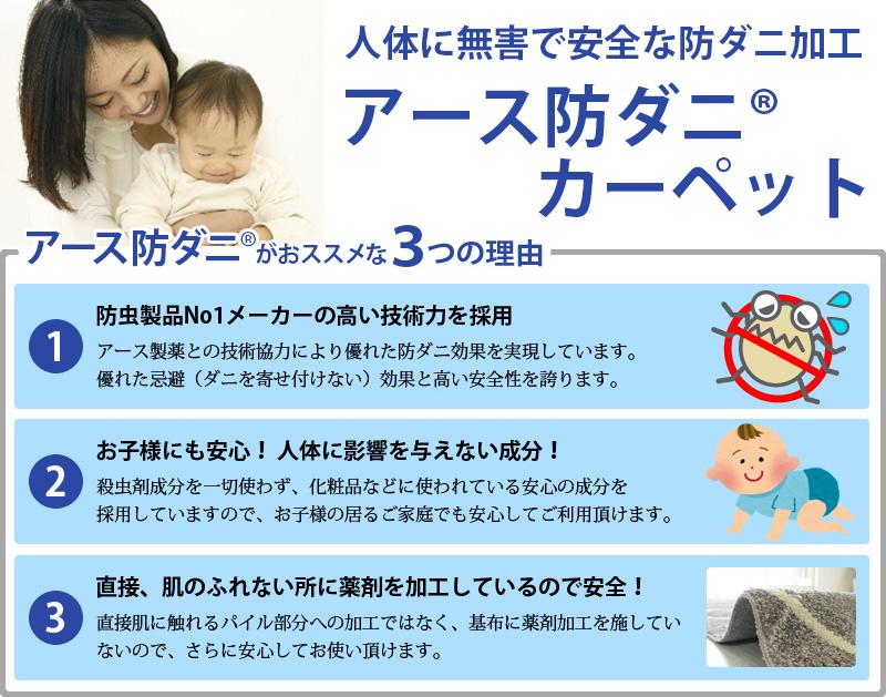 日本製の安心・安全防ダニカーペット アデル