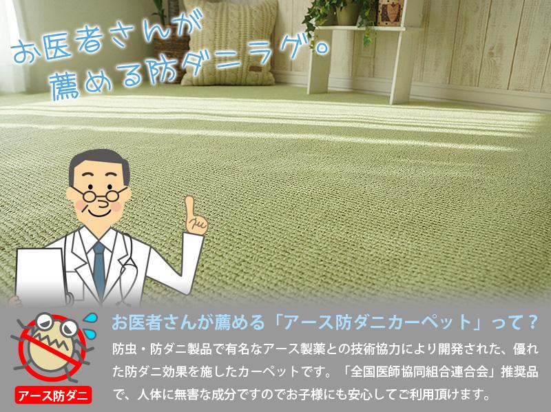 日本製の安心・安全防ダニカーペット ジーノ