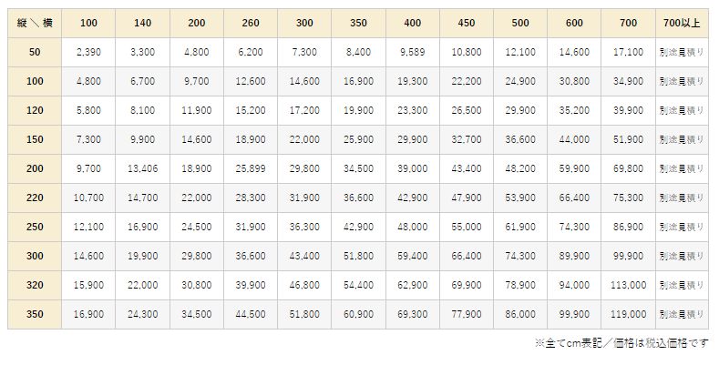 アレグロ価格表