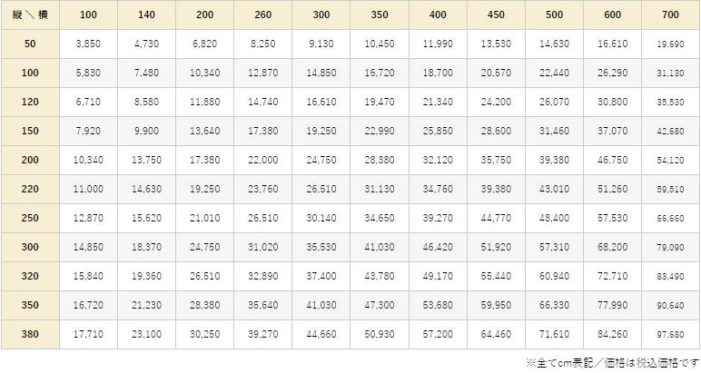 グレーナ価格表