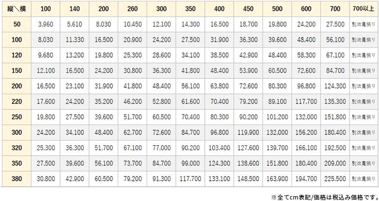 アピア価格表