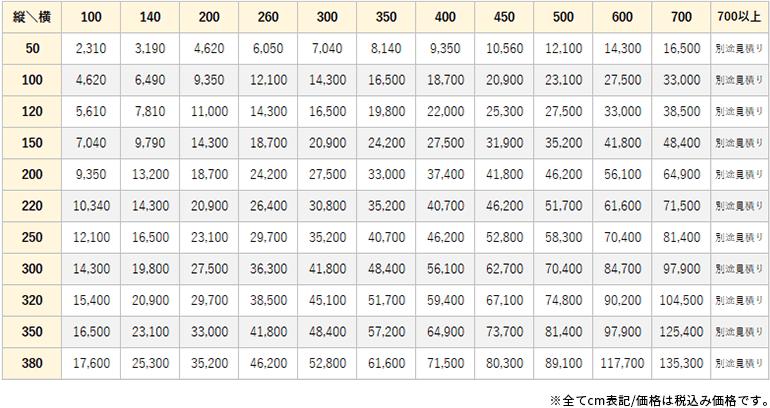 アスタナ価格表