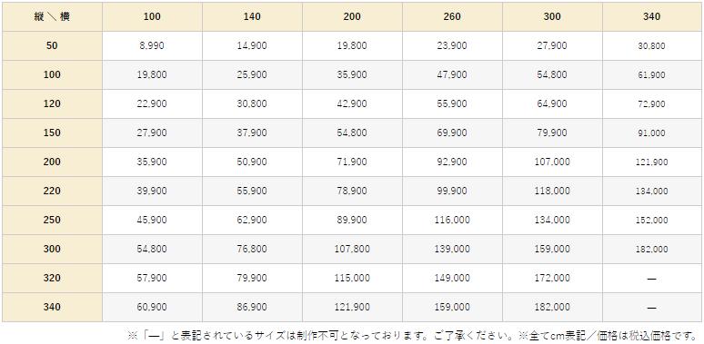 ブルーム価格表