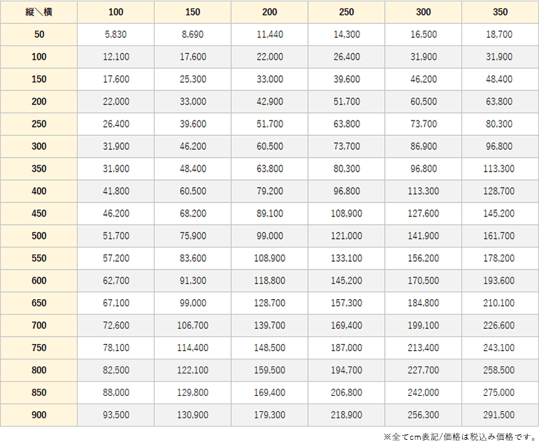 グリント価格表