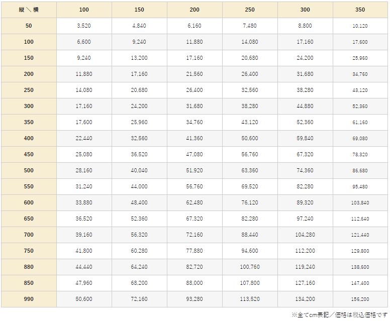 ラング価格表