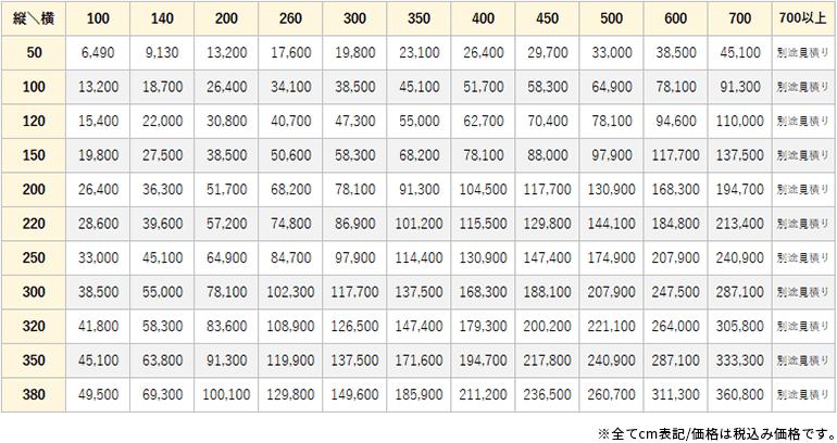 メリノホテル価格表