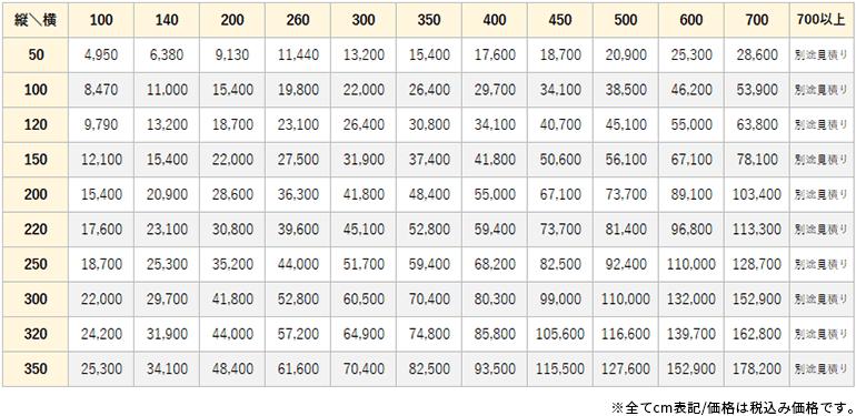スラウ価格表