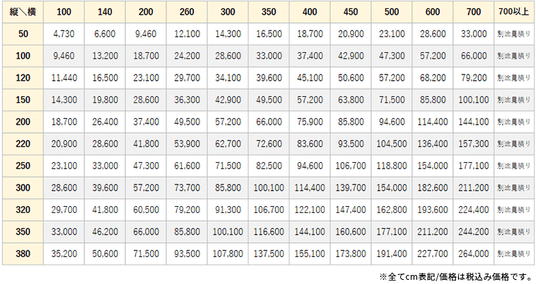 ソルフィ価格表