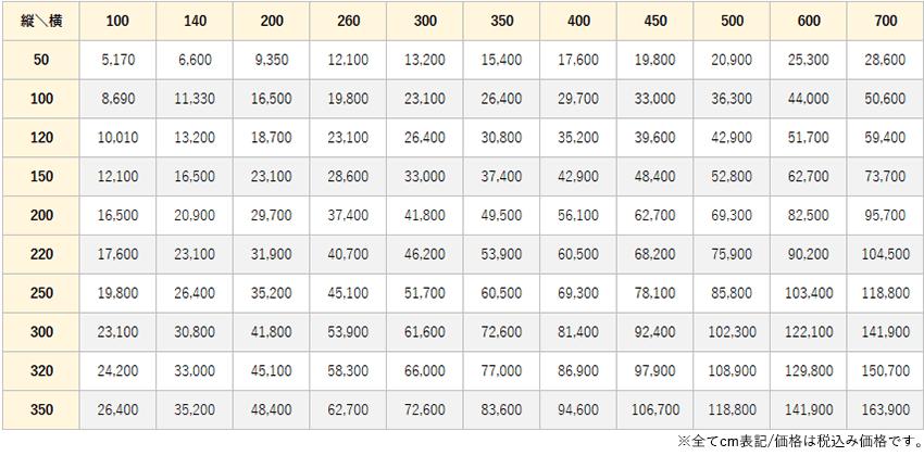 キカガラ価格表
