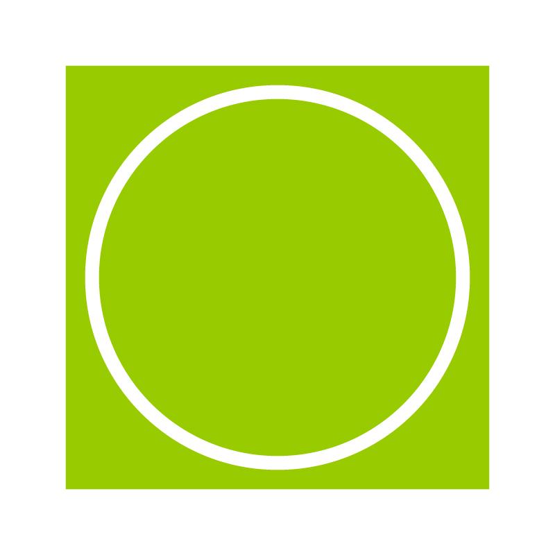 円形カット
