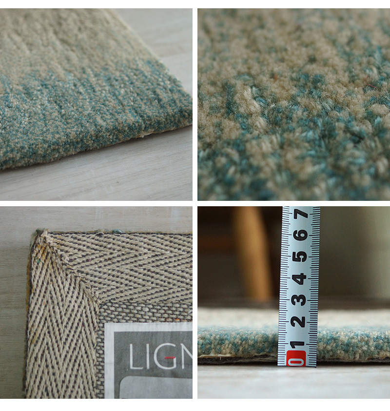 立体感のある表面と透明感のある配色がうつくしい高級ラグ
