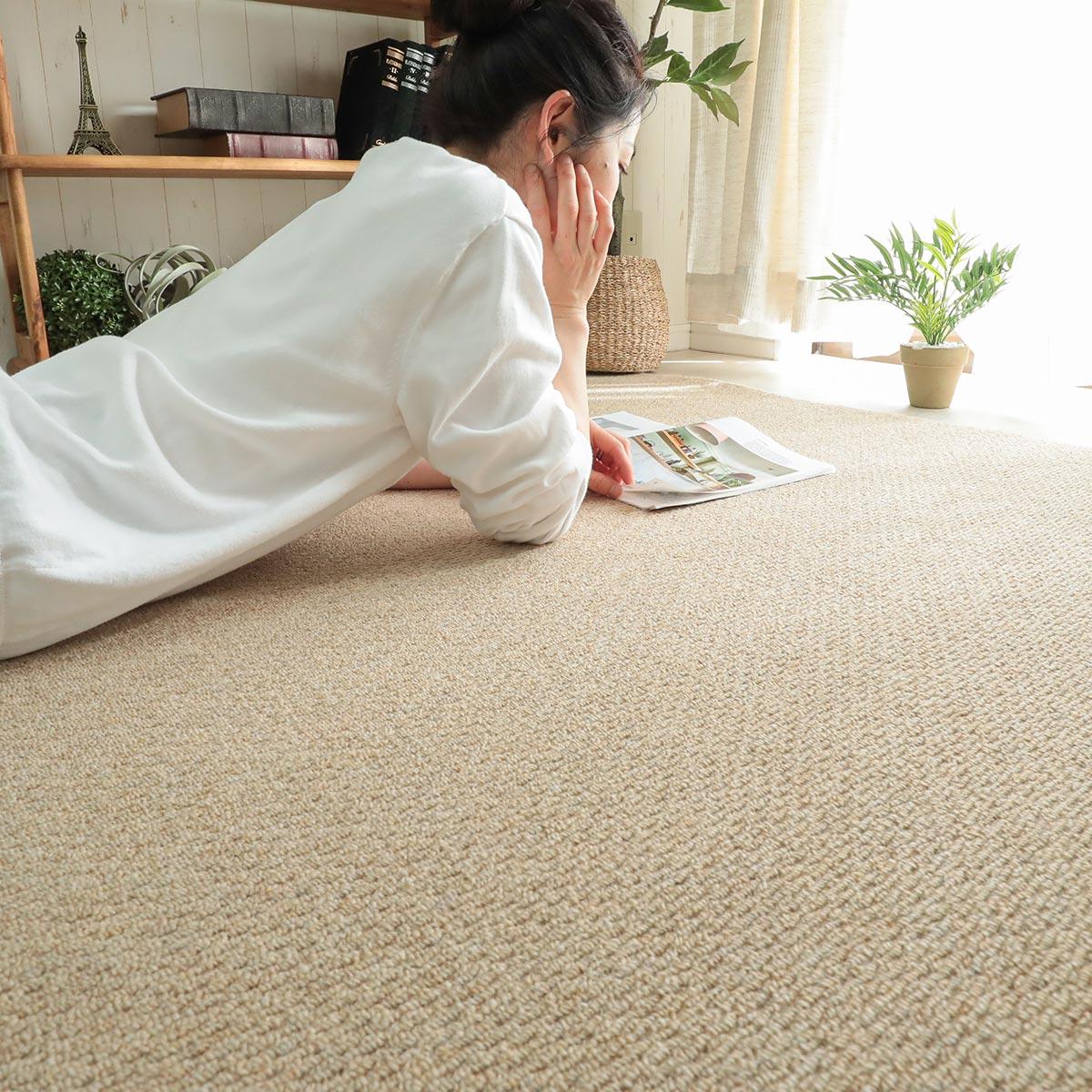 クッション性・防音性に優れたカンガバック素材を使用したカーペット。