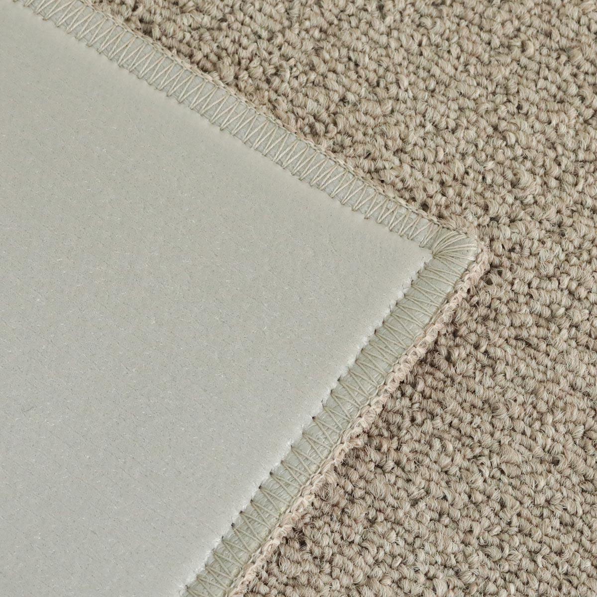 裏面はポリウレタン樹脂です。床暖房やホットカーペットでのご使用はお控えください。
