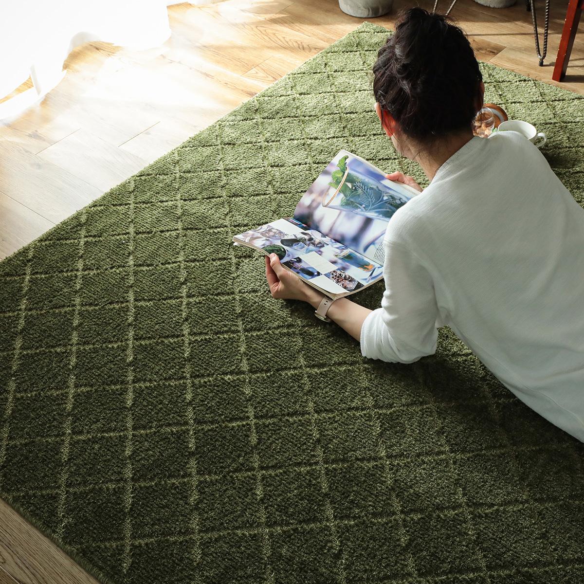 安心の防ダニ・抗菌加工 ナチュラルテイストなデザインのカーペット『カリナ』