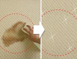 びっくりするほど汚れが良く落ちるカーペット