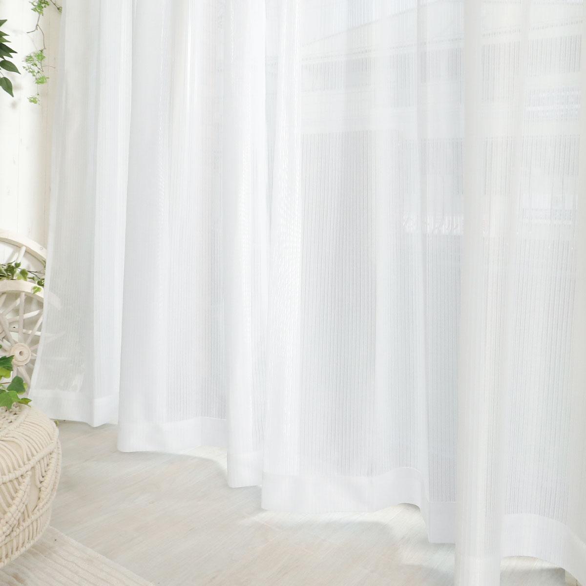 白いレースカーテン イーネス