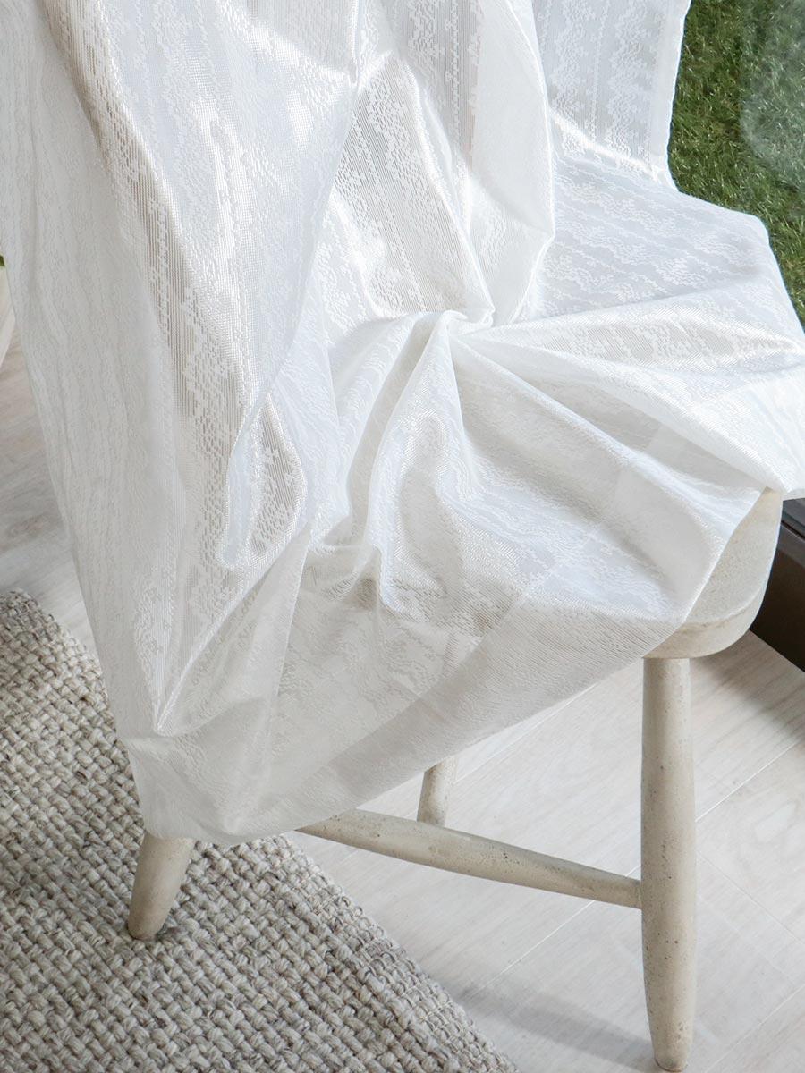 白いレースカーテン モネスト