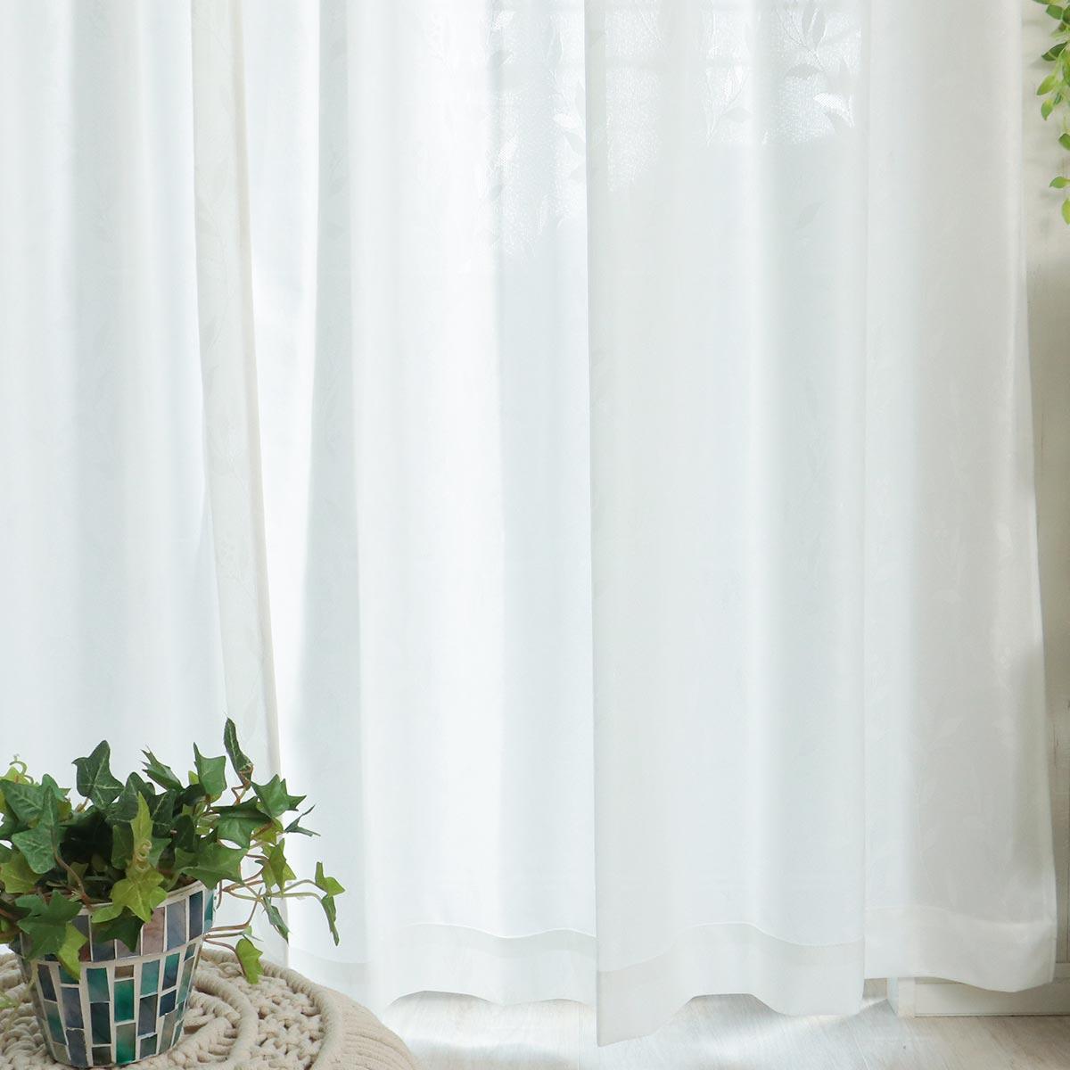 白いレースカーテン リリーフ