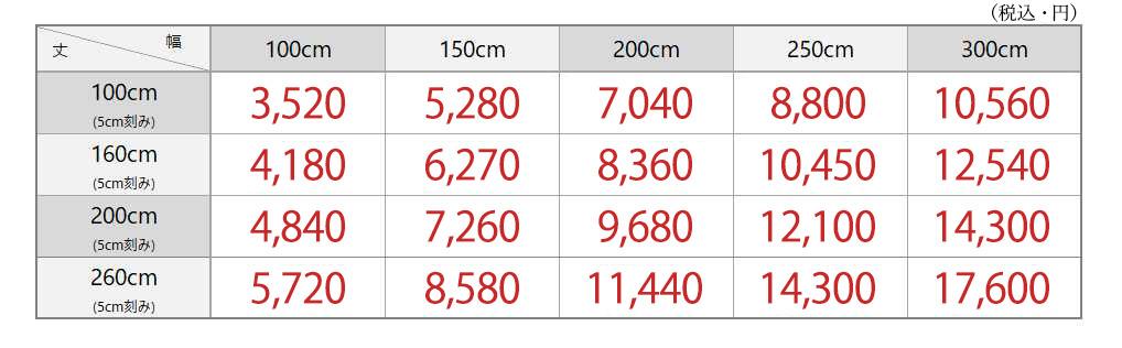 メロウ価格表