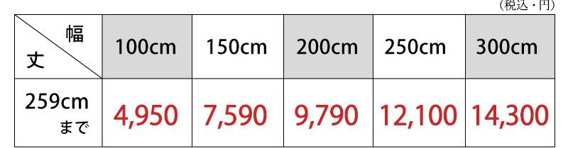 グラデーションカーテン メローア 価格表