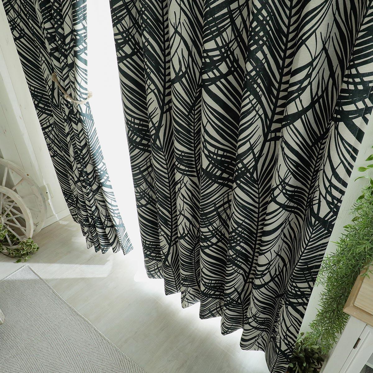 ドレープカーテン『サンディリーフ ブラック』イメージ