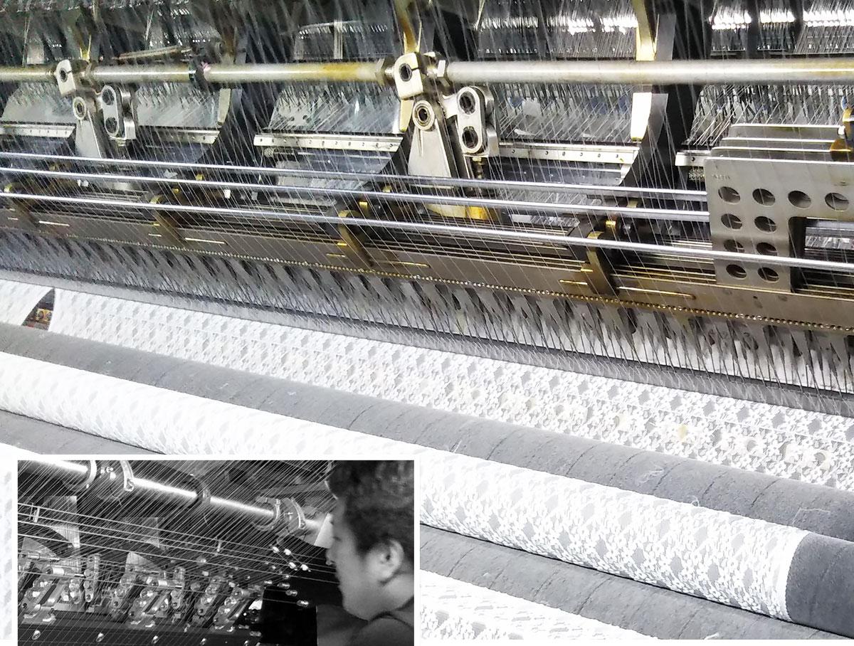国産高級編みレース機械写真1