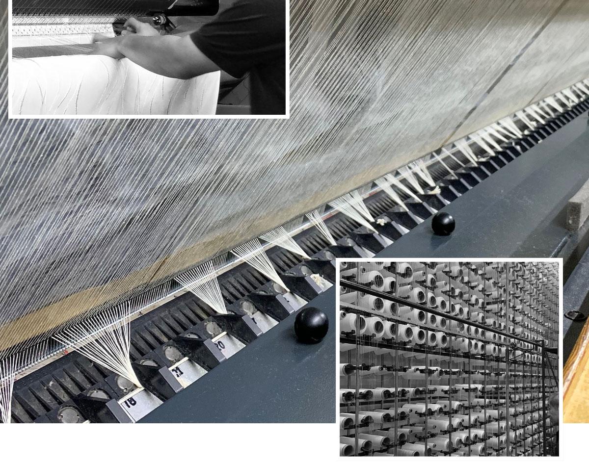 国産高級編みレース機械写真2