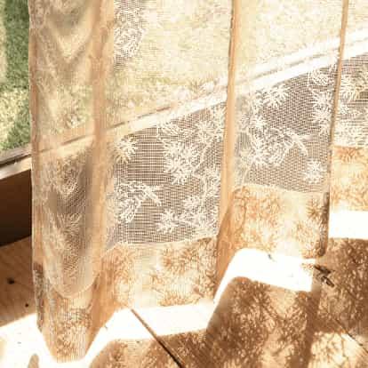 編みレースカーテン