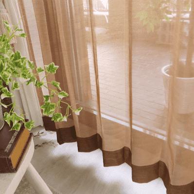 シンプル(無地) レースカーテン