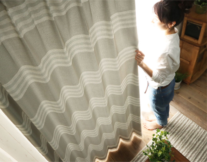 裏地付きカーテンで遮光性がアップ!