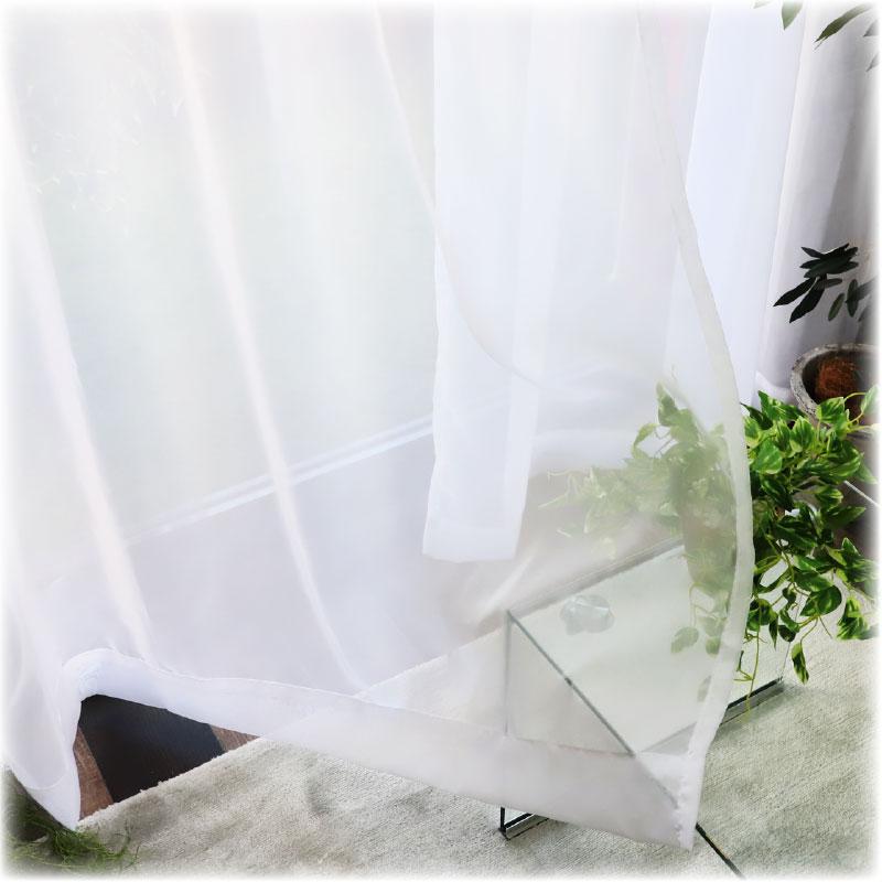 シンプルボイルレースカーテン