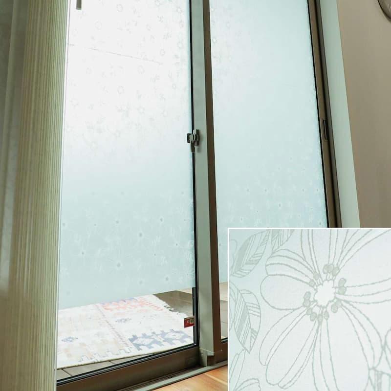 窓ガラスフィルム フラワー