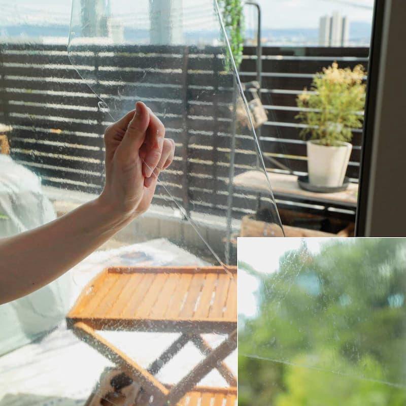 窓ガラスフィルム 飛散抑制透明タイプ