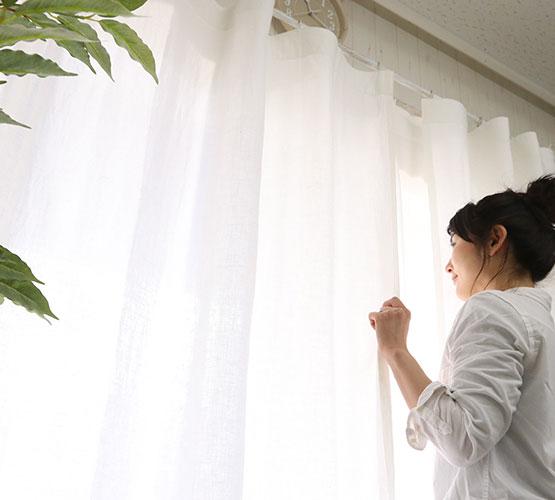 白いカーテン ポイント写真3