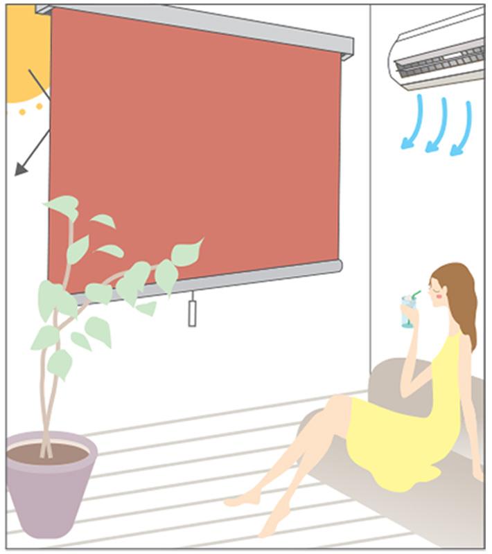 ロールスクリーン リシェ遮熱イラスト1