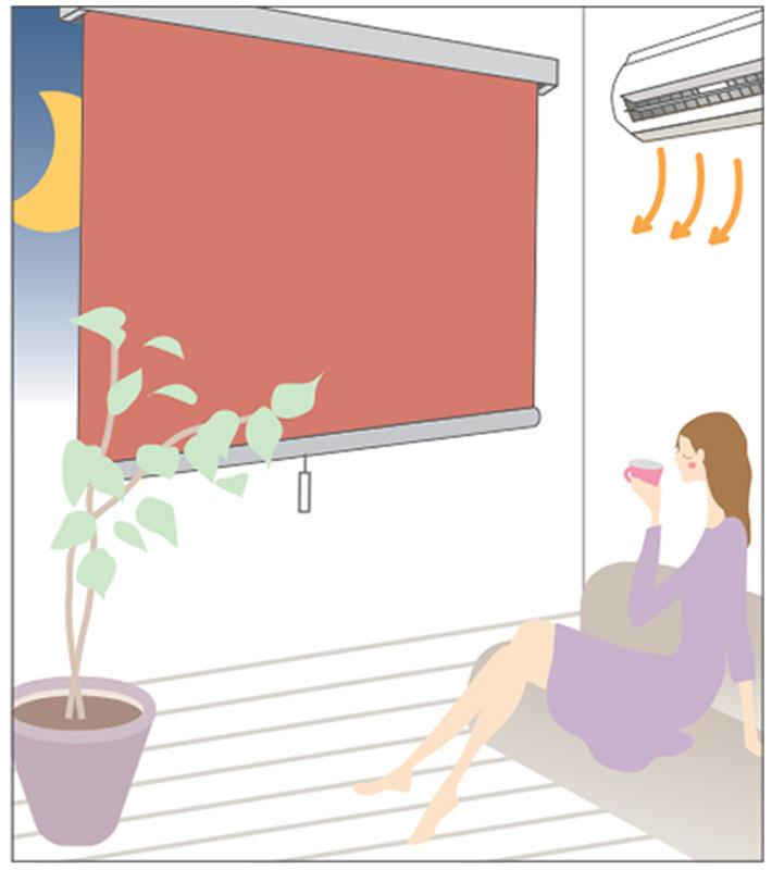 ロールスクリーン リシェ遮熱イラスト3