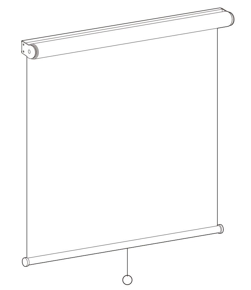 透明ロールスクリーン プルコード式仕様