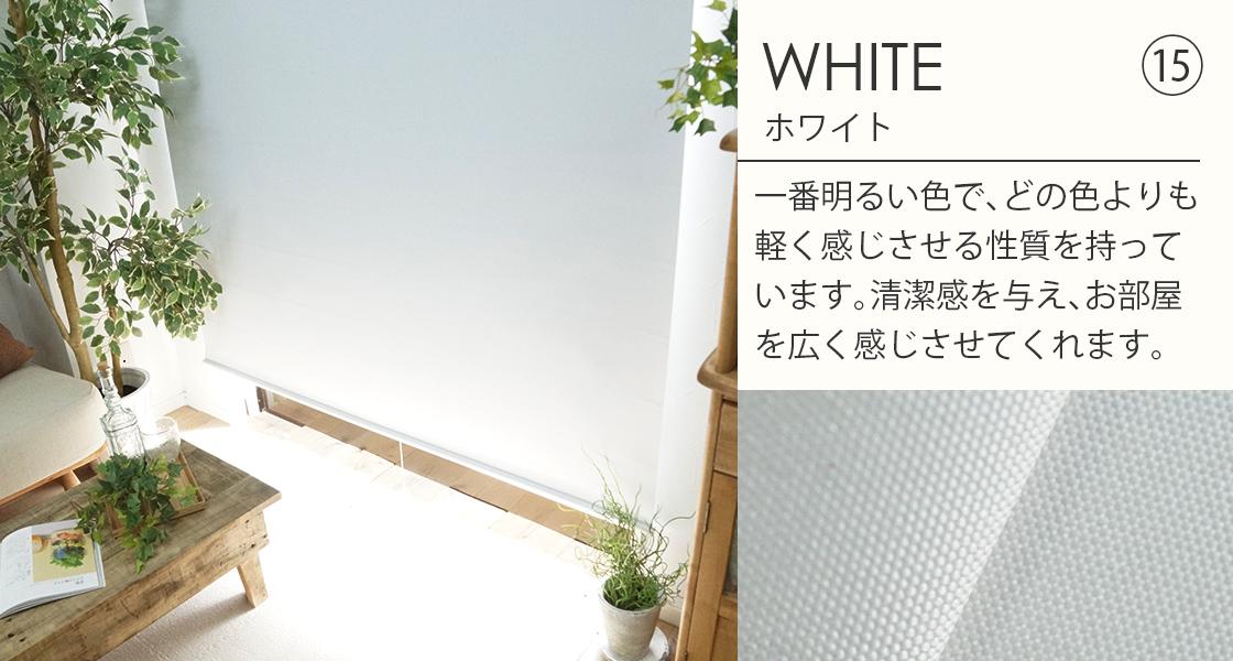 白遮光ロールスクリーン