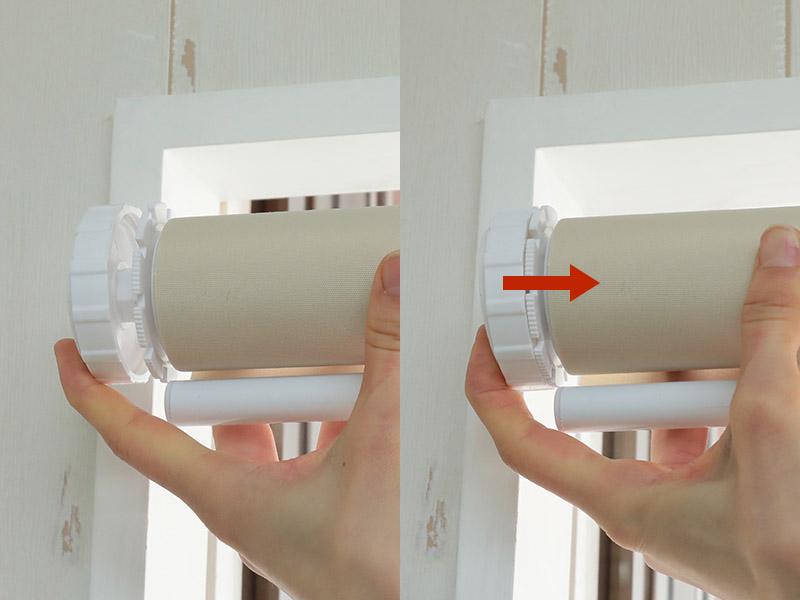 昇降ユニットの反対側を押し込み本体を伸縮させます。