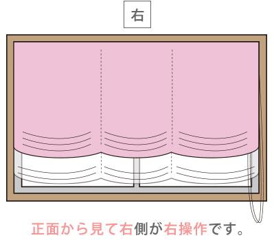 日差しの調節がしやすいダブルコード式シェードカーテン