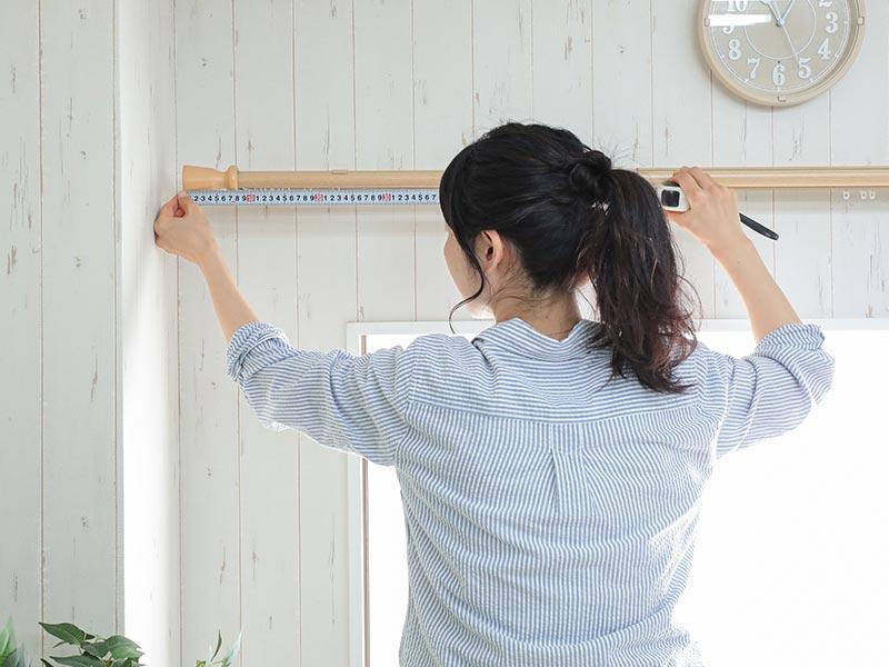 窓・カーテンの採寸イメージ