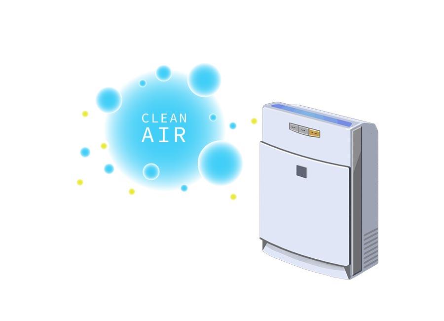 空気を浄化する