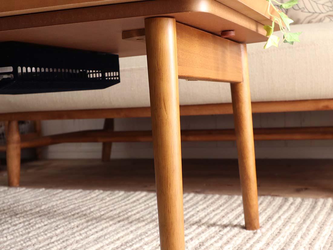 コンパクトこたつテーブル ラド