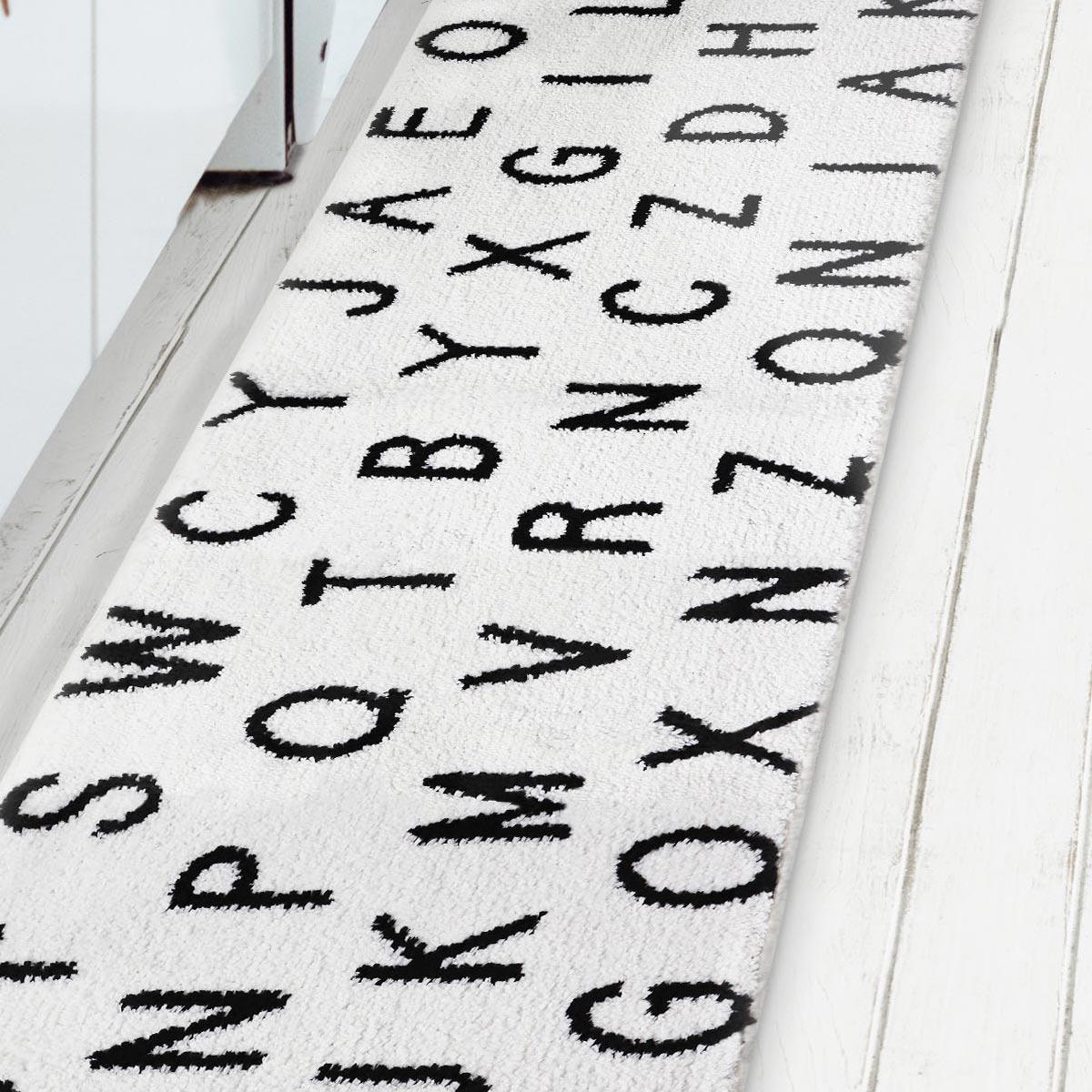 アルファベットキッチンマット ホワイト画像2