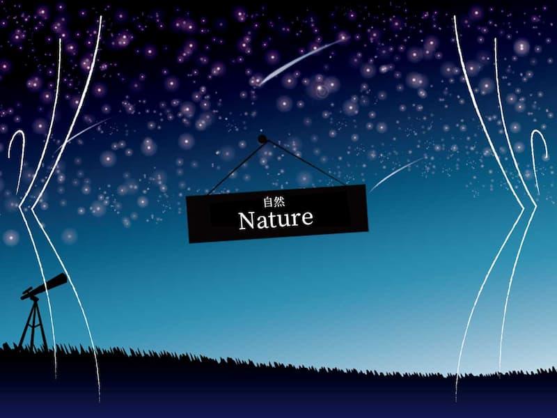 自然(雲・星柄)