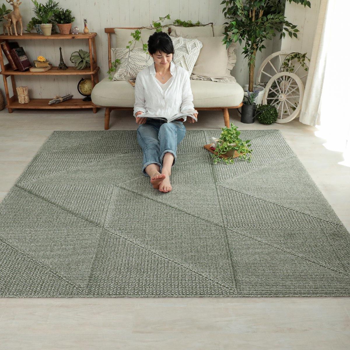 びっくりするほど汚れが落ちる高機能日本製デザインラグ『トーロ』
