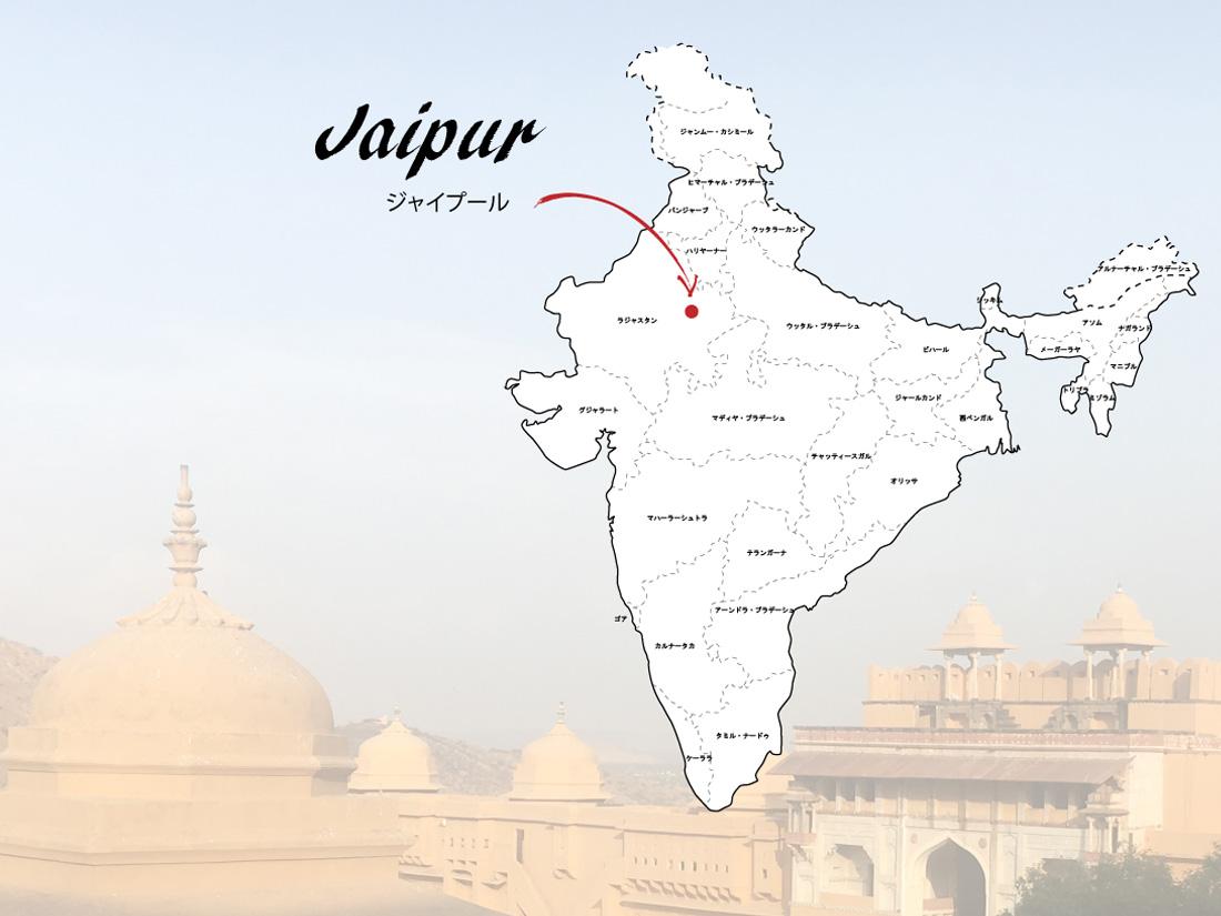 インドのジャイプール地図