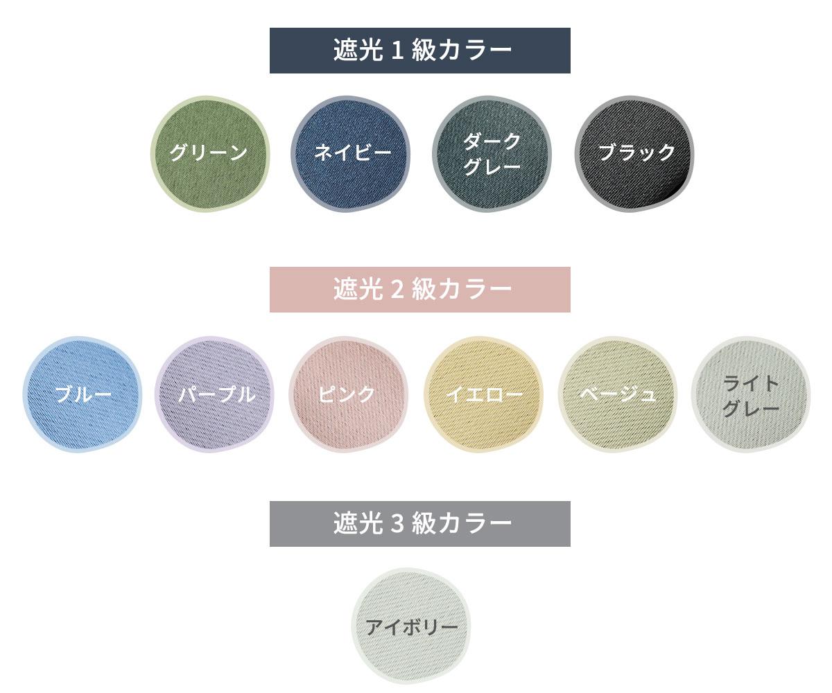 カラーによる遮光率の違いついて