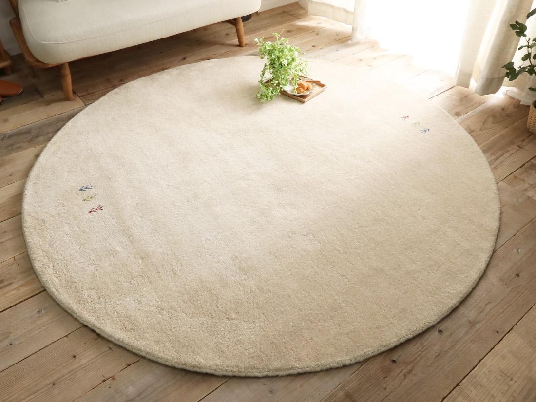インドギャッベの直径約140cm円形ラグは29,900円〜